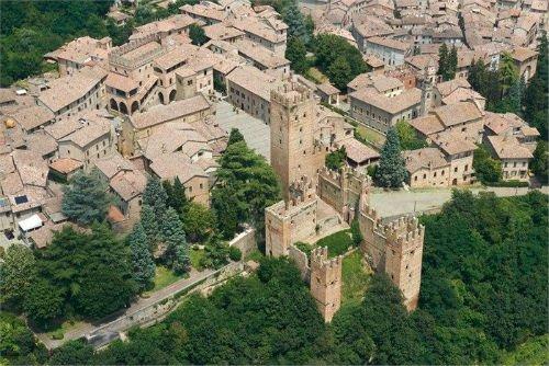 Vista del borgo di Castell'Arquato