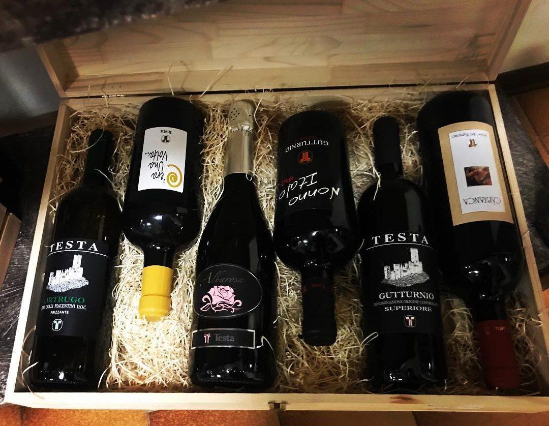 cassetta vini in legno